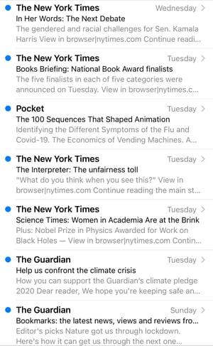 Predogled besedila e-pošte