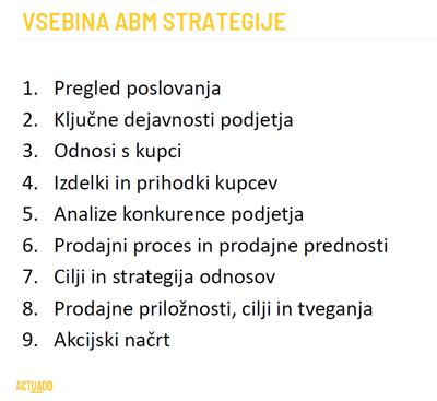 Vsebina ABM strategije