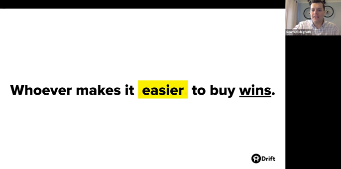 Whoever makes it easier to buy wins