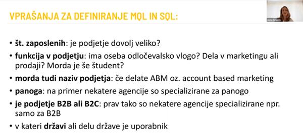 Vprašanja za definiranje MQL in SQL