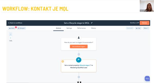 Workflow: kontakt je MQL